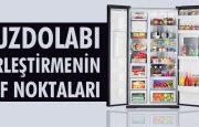 Buzdolabını yerleştirmenin püf noktaları