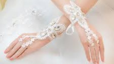En güzel gelinlik eldiven modelleri