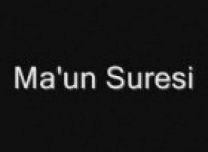 Maun Suresi