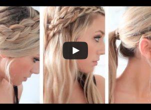 Romantik örgülerle 3 pratik saç modeli